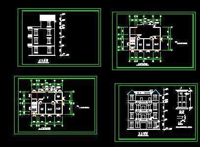 三层住宅设计图