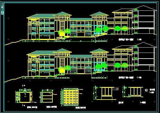 某学校教学楼广场环境设计图图片