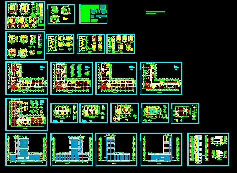 17层l型办公楼建筑设计图