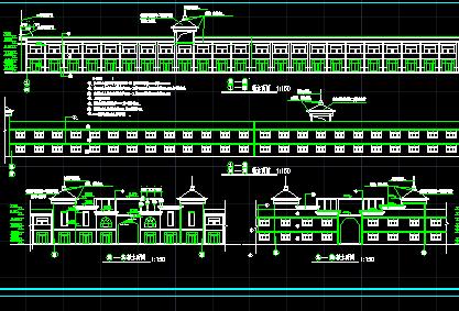 二层商业楼建筑设计图纸