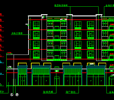 六层住宅楼建筑设计图纸免费下载 - 建筑户型平面图