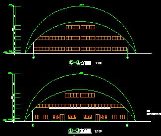 小型体育馆建筑设计图