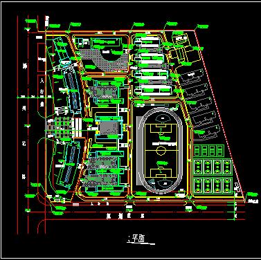 某中学校园建筑平面设计图纸
