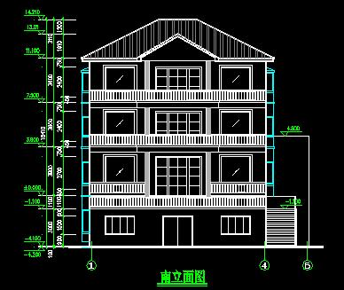 江南四层民居建筑设计图