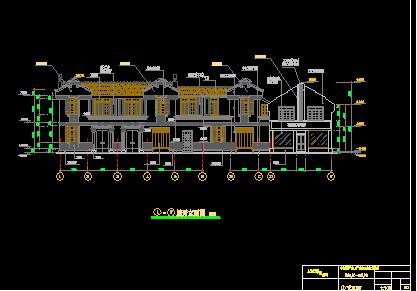 仿古民居楼建筑设计图