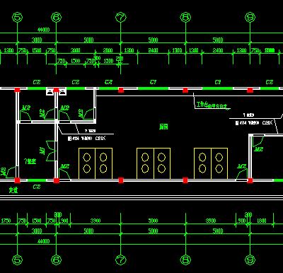 某食堂建筑设计图纸