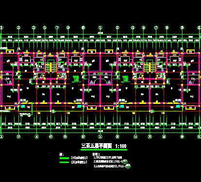 六层砖混结构住宅楼全套建筑施工图纸(带水电)