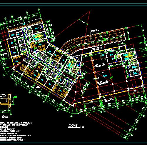 地下1地上7层L型图纸建筑设计酒店(含详图)免图纸表示上管子壁在如何图片