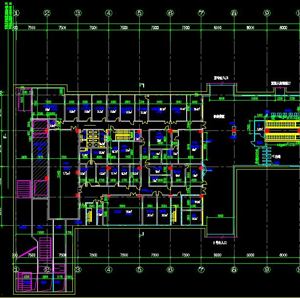 地铁站站厅层建筑设计图