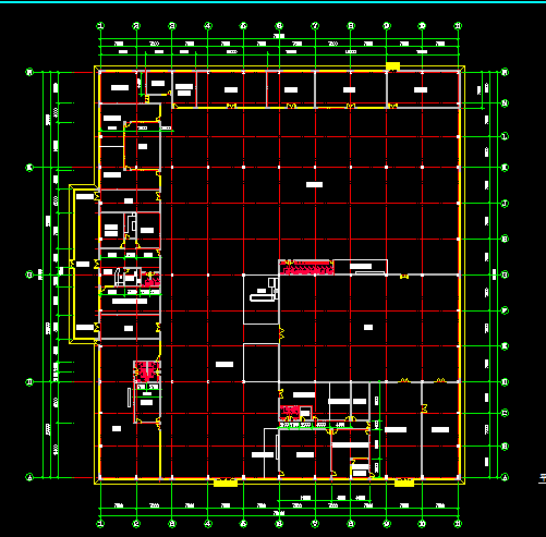 某单层厂房车间建筑设计图