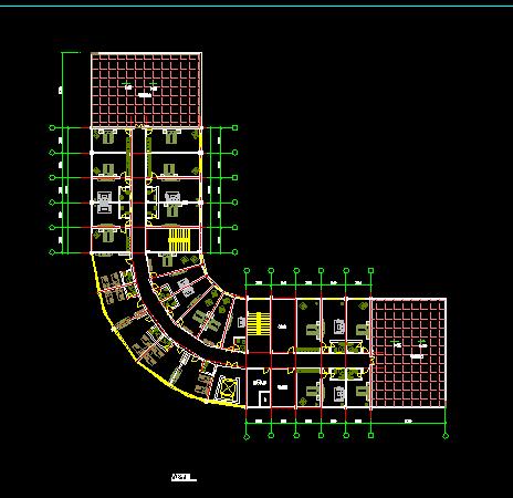 某多层转角大酒店建筑设计图纸