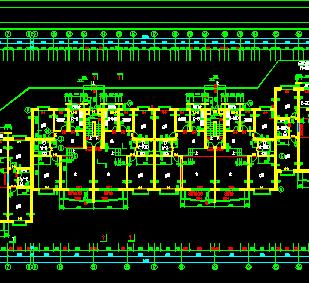 八层住宅楼建筑设计图纸(含结构水电暖)