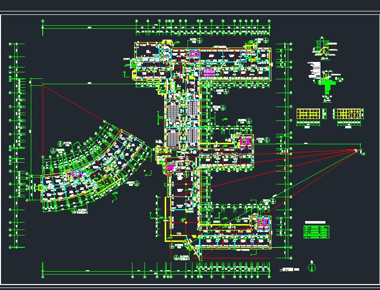 某学校四层教学楼建筑平面设计图