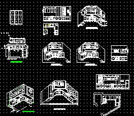 立体厨房建筑设计图纸