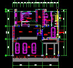 汽车服务中心建筑设计图纸