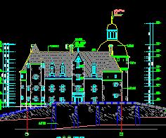 法国三层古堡建筑设计图纸