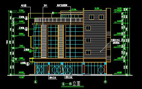 农贸市场建筑施工图