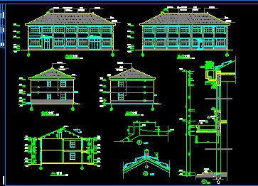 某二层小厂房建筑施工图