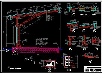 单排瓦面自行车车棚建筑设计图