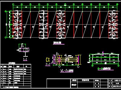 双排自行车车棚建筑设计图