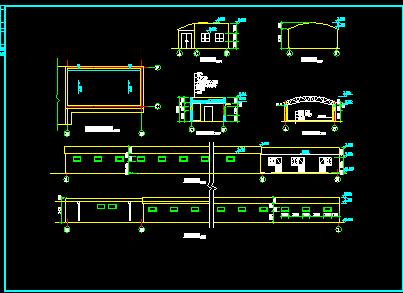 封闭式自行车棚建筑设计图