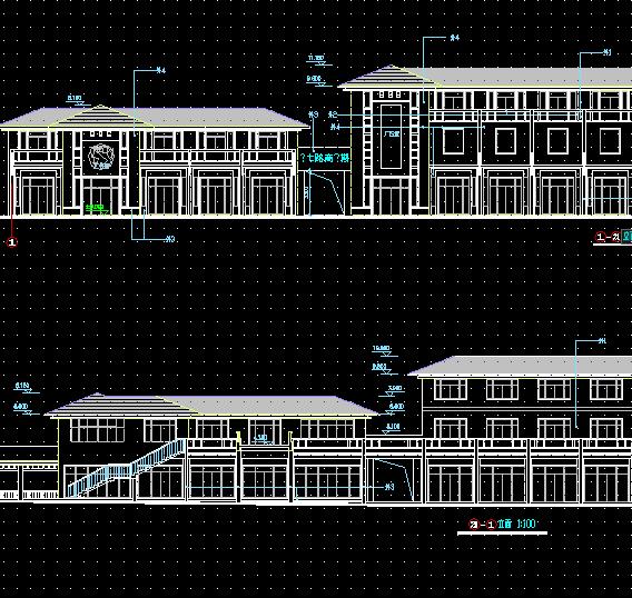 二层某商业街建筑设计图纸