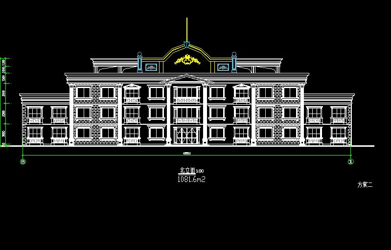 三层某酒店式公寓建筑设计图纸