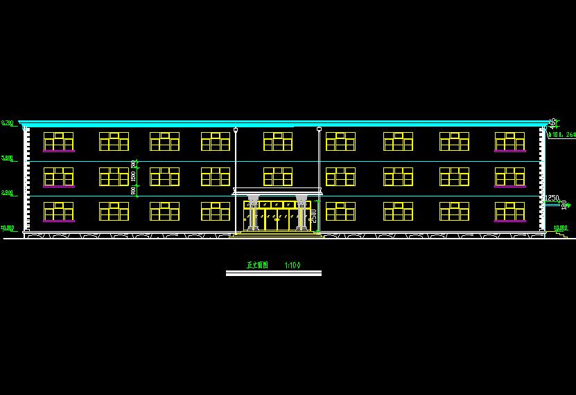 三层办公楼建筑设计图纸免费下载 - 工业,农业建筑