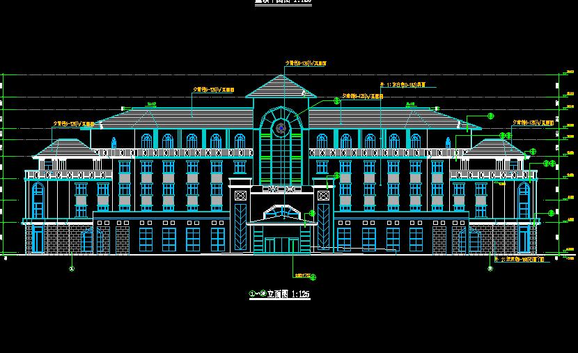 三层某宾馆建筑设计图纸