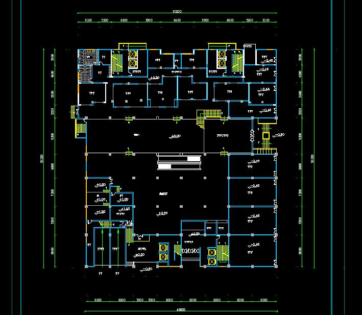 四层某大型商场建筑设计图纸