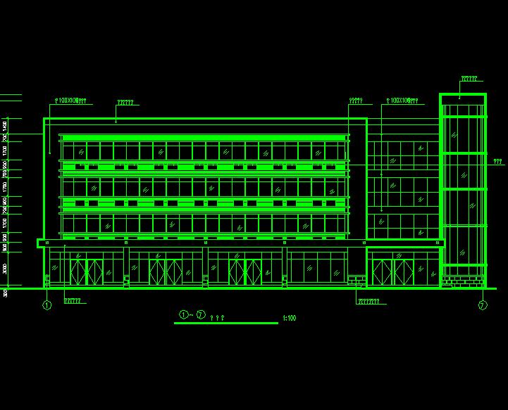 四层宾馆建筑设计图纸