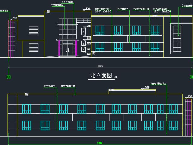 某两层工厂办公室建筑设计图