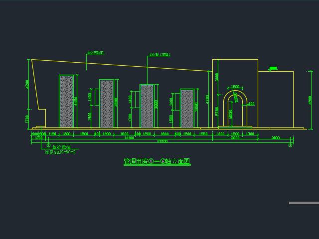 旅游景点管理房建筑设计图