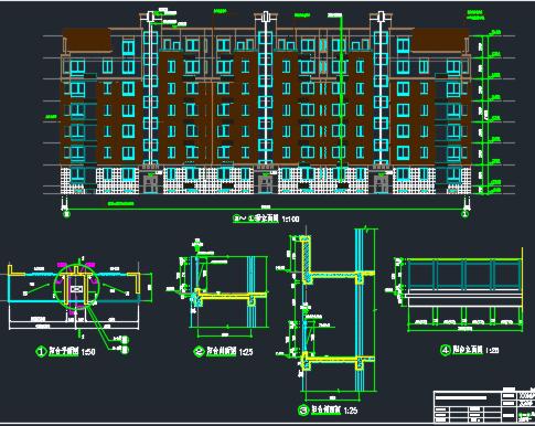六层框架结构住宅楼建筑结构施工图纸