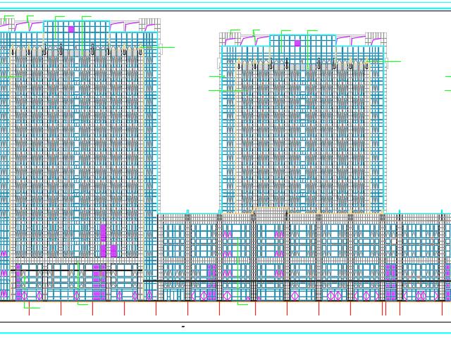 某广场办公楼建筑施工图(含水电暖)