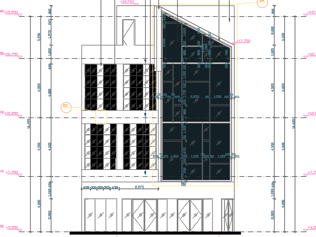 某商场幕墙建筑设计图