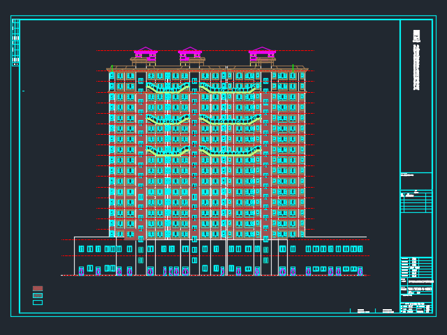 高层商住楼建筑结构施工图(含水电暖)