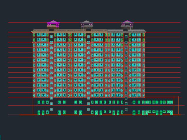商住楼建筑结构施工图(含水电暖)
