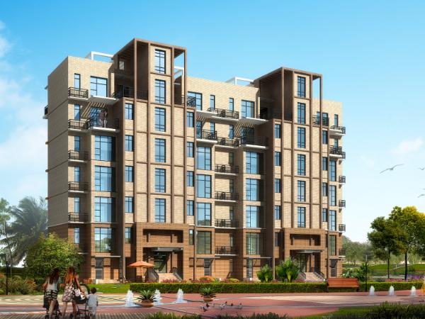 新中式風格住宅及沿街商業樓建筑施工圖(含效果圖)