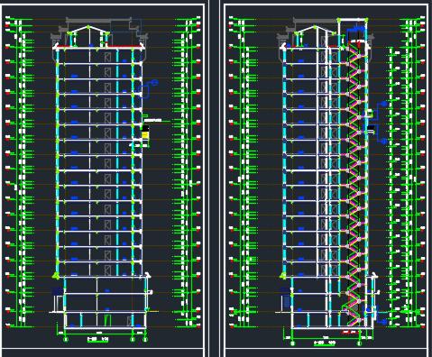 剪力墙结构商住楼建筑施工图
