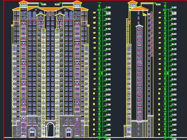 高层塔式住宅建筑施工图