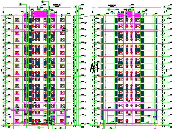 15层现代板式住宅建筑施工图