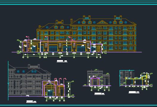 框架结构公寓楼建筑施工图