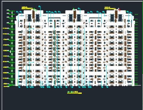 剪力墙结构商住楼建筑结构施工图(含水电暖)