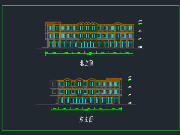 某三层超市建筑设计图