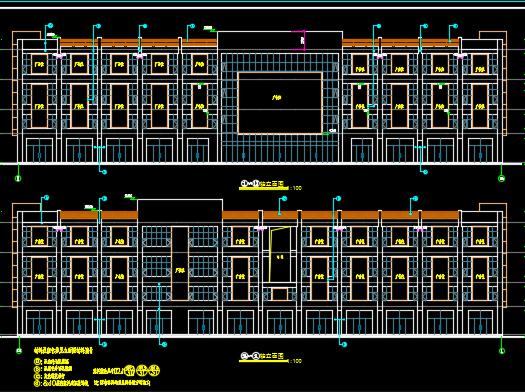 四层现代风格商业楼建筑施工图纸(含效果图)