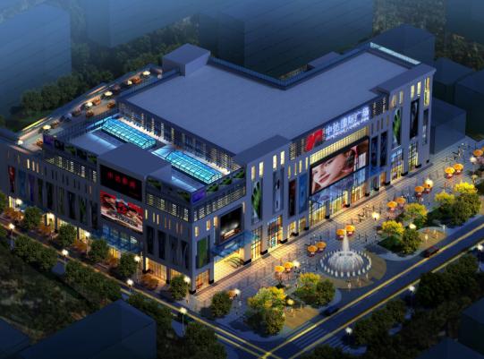 七层框架结构商业广场建筑施工图纸(含效果图)
