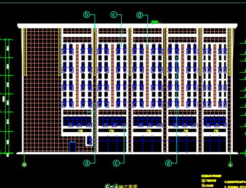 六层剪力墙结构商业街区建筑施工图纸(含建筑结构水电暖)