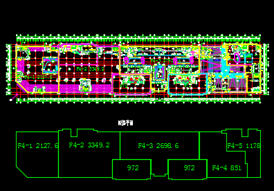 高层框架结构办公、公寓及商业餐饮建筑施工图纸(含建筑结构水电暖)