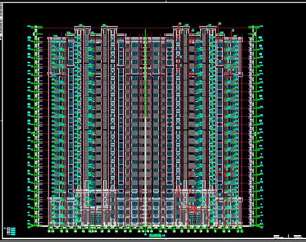 高层住宅及公建全专业优乐娱乐图纸(含建筑结构水电暖)